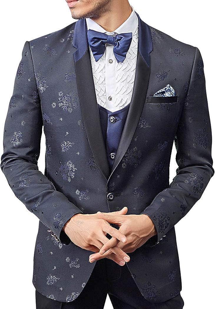 INMONARCH Gray 6 pc Mens Tuxedo Suit TX04038R54 54 Regular Dark-Gray