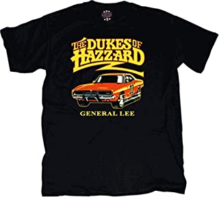 Dukes of Hazzard Youth General Lee T-Shirt Childrens Black