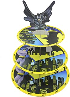 Betop家3-tireバットマンテーマパーティーカップケーキデザートスタンド