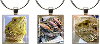 BEARDED DRAGONS/BEARDIES ~ Scrabble Tile Wine Glass Charms ~ Set of 3 ~ Stemware Charms/Markers/Pendants