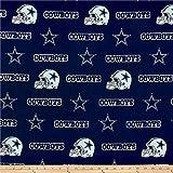 NFL Cotton Broadcloth Dallas Cowboys Blue,...