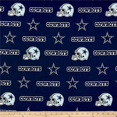 Quilt Fabric Traditions NFL Cotton Broadcloth Dallas Cowboys Blue Quilt Fabric By The Yard
