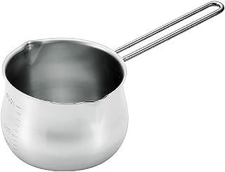 タケコシ 18-8ミルクパン 1000cc 目盛付 ワイヤーハンドル