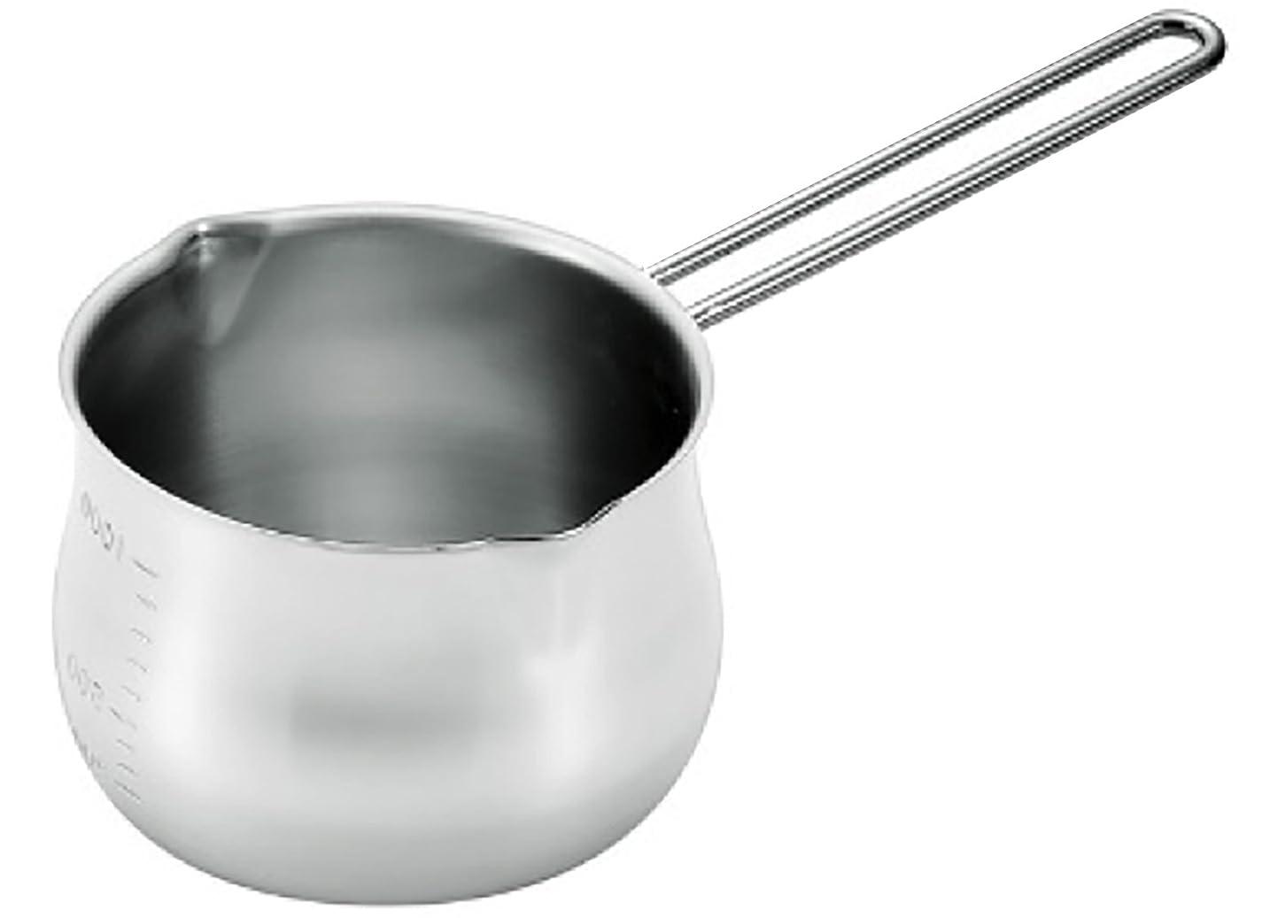 吸う特徴づける羊タケコシ 18-8ミルクパン 1000cc 目盛付 ワイヤーハンドル