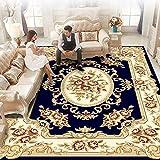 ZX-alfombras Alfombra Té Mesa de Manta Máquina de Wilton Tejido Sólido 15 mm Pila Alfombra de Estar y Dormitorio Antideslizante Sin formaldehído Lavable Suave Agradable para la Piel Cómodo