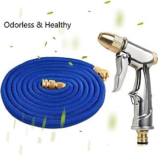 High Pressure Car Wash Water Pump 15M Telescopic Hose Deep Washing Sprinkler Metal Nozzles Cleaner Watering Tool Set for G...