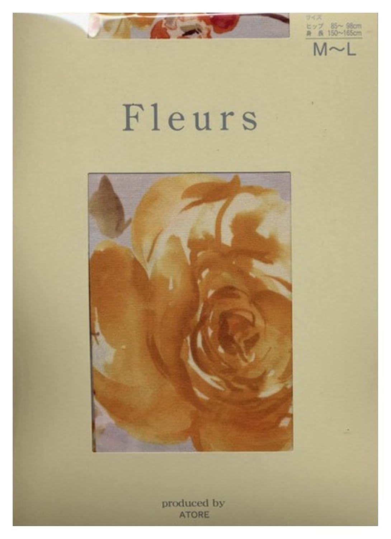 (フルール) Fleurs 50デニール マスカレード 花 柄プリント タイツ (パンスト タイプ)