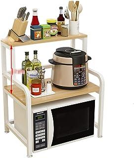 Étagère de Cuisine Durable Four À Micro-Rack 2 Niveau Étagère De Rangement De Cuisine Étagères Unité Multifonction De Stoc...