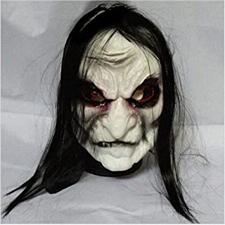 Halloween Zombie Mask Props Grudge Ghost Hedging Zombie Mask Realistic Masquerade Halloween Mask Long Hair Ghost Scary Mask