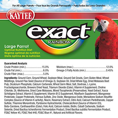 Kaytee Exact Rainbow Large Parrot 20lb
