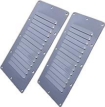 Ventilatiegatplaat 2 stuks Rvs Air Vent GRILLE MUUR DUCTING COVER VENTILATIE LOUVRE 5 * 9 inches Afzuiging (Color : As pic...