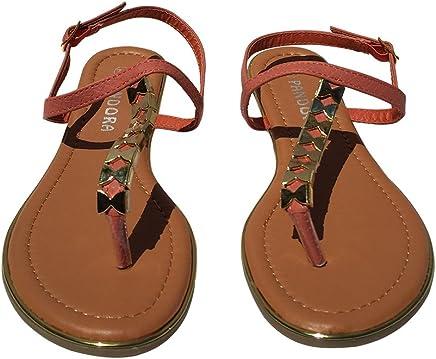 2671fb70fb6f StyleUpGirl Coral Bow Fantasy Sandal