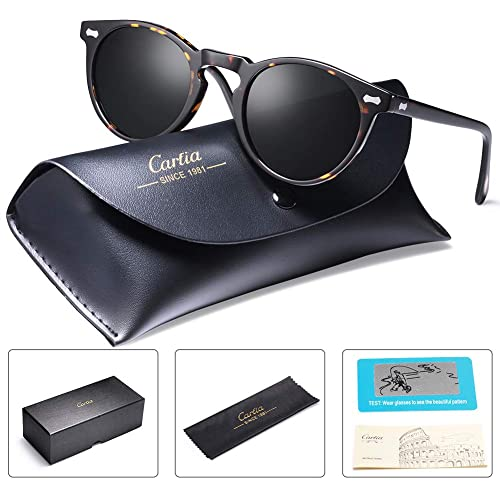 0a9ab4217dea Carfia Mens Sunglasses Polarised UV400 Protection Vintage Eyewear for  Driving Travel