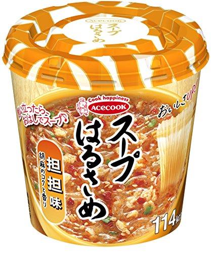 acecook Instant Harusame (Cellophan Nudeln) Suppe, Szechuan Sesam Hot Geschmack, 34g Gewicht X 6Tassen (für 6Portionen) [Japan Import]