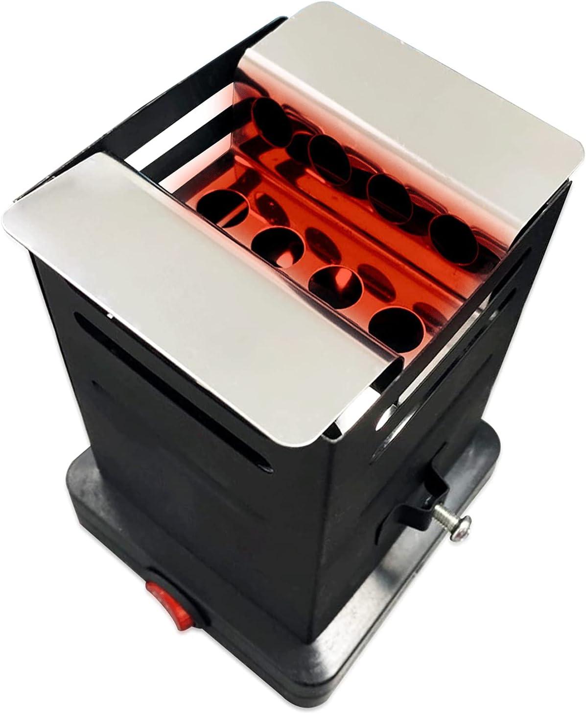 PAIDE P Hornillo eléctrico de carbón natural para Shisha, Cachimba, Narguile. Encender rápidamente el carbón natural. Bajo consumo 600 o 800w. Portátil con cable. (600w)
