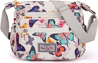 Damen Umhängetasche mit mehreren Taschen, Umhängetasche, Handtaschen, Reisetasche, Kulturbeutel, verstellbarer Riemen, Kur...