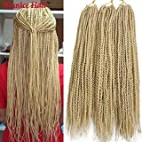 Eunice 6 Packs 18' Senegalese Twist Crochet Hair Braids Small Havana Twist Crochet Braiding Hair Senegalese Twists Hairstyles For Black Women 30strands/pack (#613)