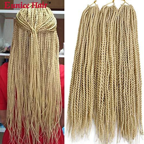 Eunice 6 Packs 18' Senegalese Twist Crochet Hair Braids Small Havana...