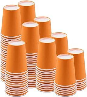 10 X Plastique Fête gobelets jaune orange rose ou bleu