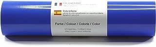 Lámina de plotter autoadhesiva lámina de vinilo 21 cm x 3 m brillo 39 colores a elegir, Glänzend L-Serie:Azul Brillante