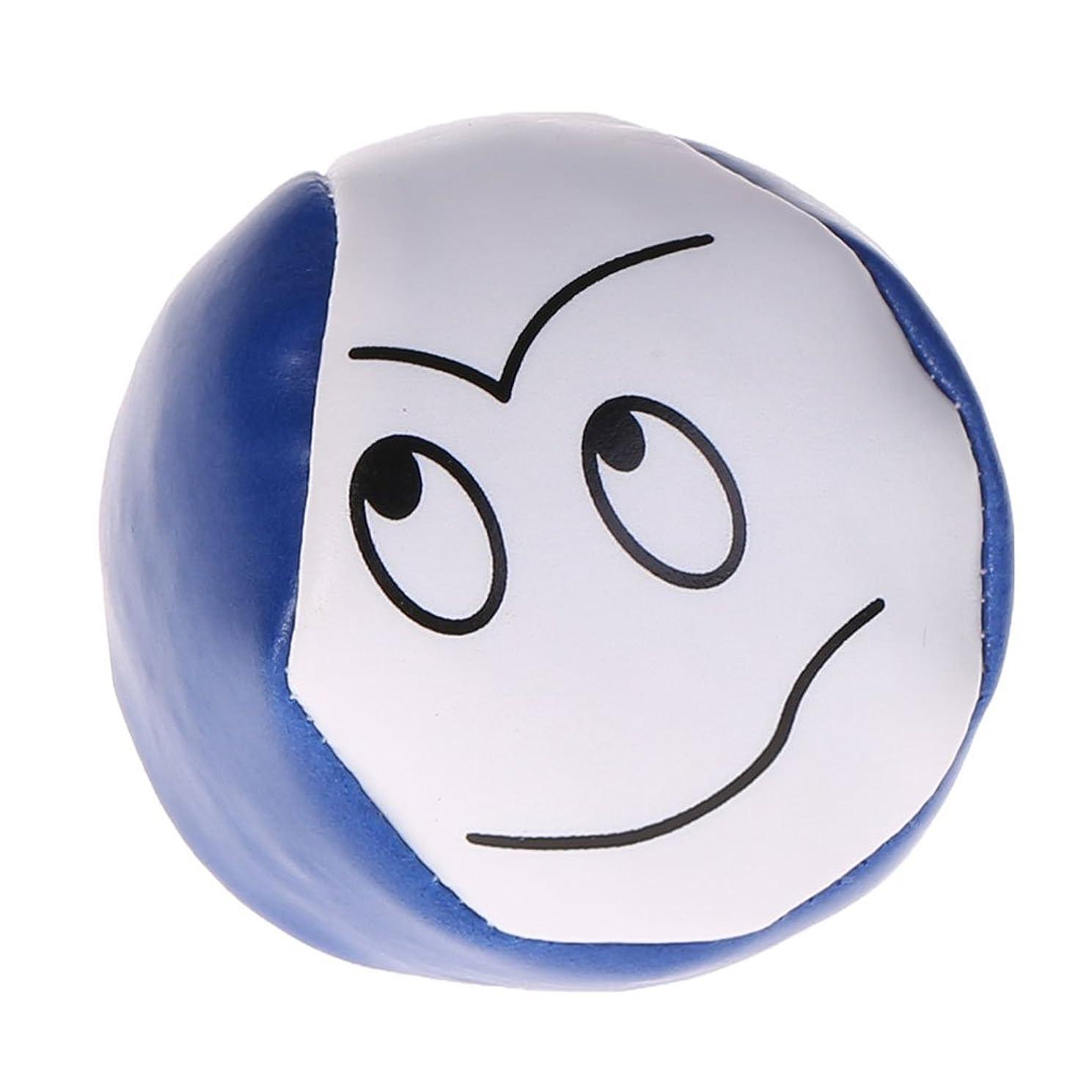 Qupida PU Juggling Balls Cute Cartoon Look Magic Prop Throwing Toys Children Kids Gifts (Blue)