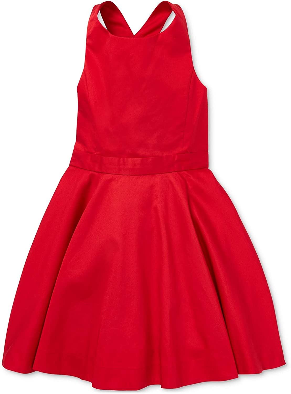 Polo Ralph Lauren Girl`s Crossback Cotton Satin Dress