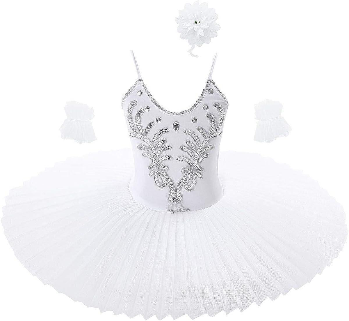 Ranking TOP13 TiaoBug Kids Girls Sequins Beads Ballet Leotard Tutu Dress Dance Same day shipping