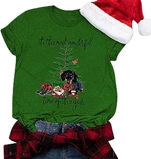 Winsummer Christmas Movie T-Shirt Women Christmas Shirt Funny Cute Graphic T-Shirt Short Sleeve Tees Tops T Shirt