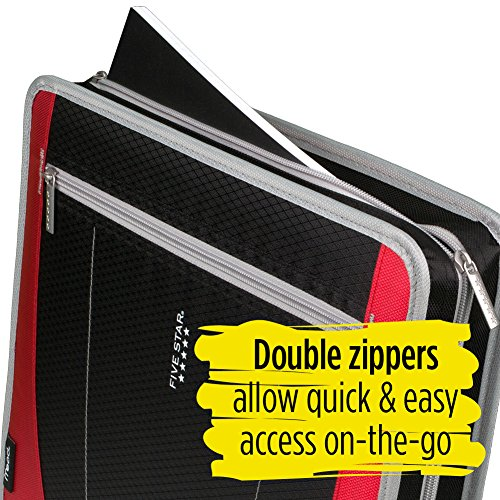 Five Star 2 Inch Zipper Binder, 3 Ring Binder, Removable File Folders, Durable, Red (73283) Photo #7