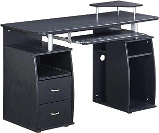Techni Mobili Complete Computer Workstation Desk with Storage. Color: Espresso