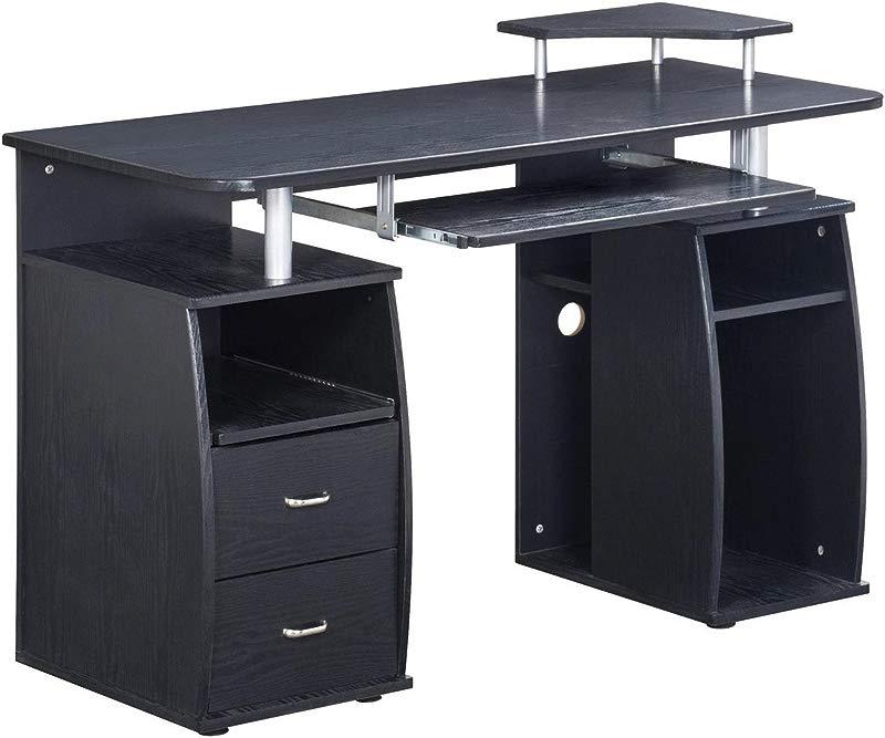 Techni Mobili Complete Computer Workstation Desk With Storage Color Espresso