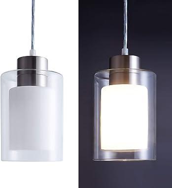 Pendant Light Contemporary Pendant Lighting Adjustable Single Pendant Hanging Light for Kitchen Island Dining Room Farmhouse