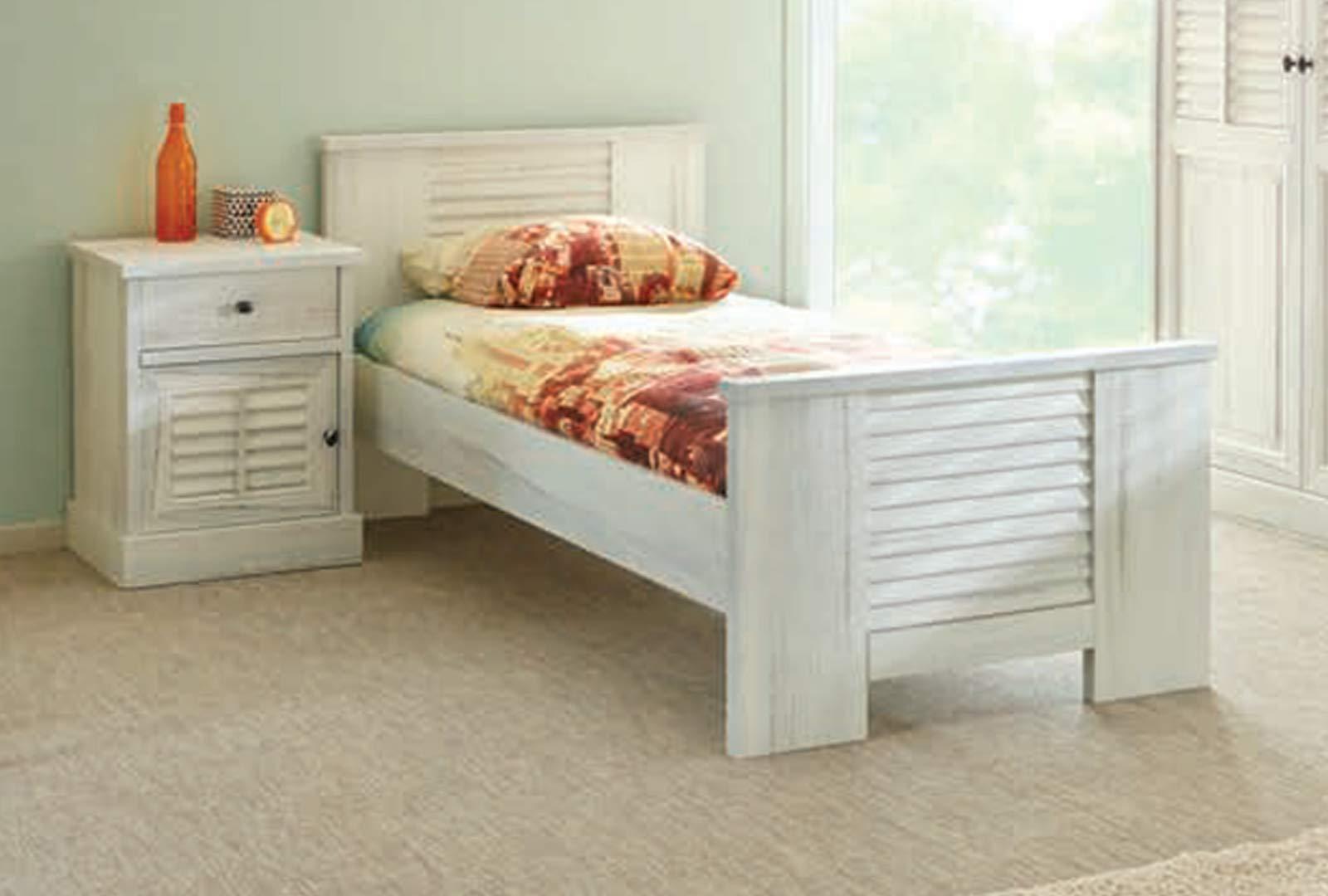 LIGNEUBLE Merida - Conjunto de dormitorio de madera blanca envejecida: Amazon.es: Hogar