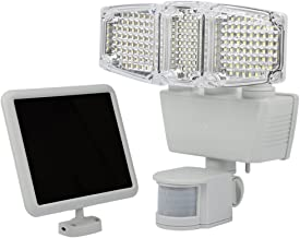 太阳能灯运动传感器,182 LED 1000 流明户外传感器轻便防水三重双头户外运动传感器火泛光灯,针对庭院、甲板、庭院、庭院、庭院、驾驶道