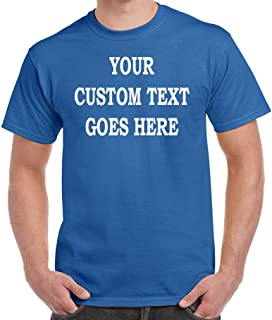 custommadeinusa Custom T-Shirt Add Your Own Text Personalized Customized Tee