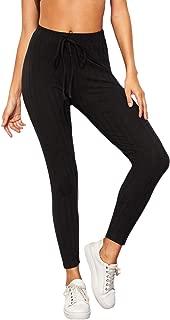 SweatyRocks Leggings Women Workout Yoga Leggings High Waist Striped Side Jogger Pants