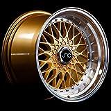 JNC Wheels - 17' JNC004 Gold Machined Lip Rim - 5x112/5x120-17x10 inch
