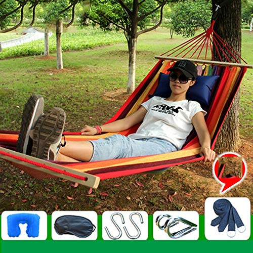 Zhangmeiren Outdoor Hanging Chair Hammock Swing Household Adult Bedroom Bedroom Dormitory Bed Cradle Sticks Out Canvas Chair (Color : E)