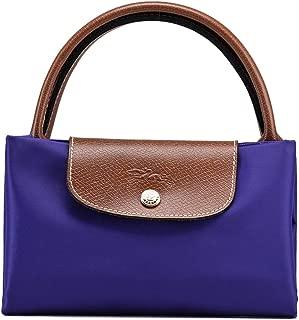 Lonngchamp Short Handle Large Shoulder Tote Bag Nylon Le Pliage Handbags Folding Shopping Beach Travel Commuter Bag