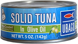 Ubago Solid Light Tuna 5 Oz Canned (In Olive Oil, Pack of 1)