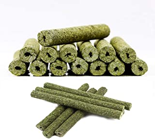 35pcs Timothy Hay Sticks Chew Toys for Guinea Pig Chinchillas Rabbit Hamsters Squirrel and Other Small Animals