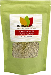 Yarrow Leaf and Flower : Loose Herbal Tea : Pure Natural and No Additives : Kosher Certified (3oz.)