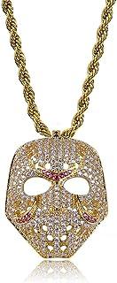 Collar Colgante Máscara Jason Asesino Diamantes Trap Hiphop