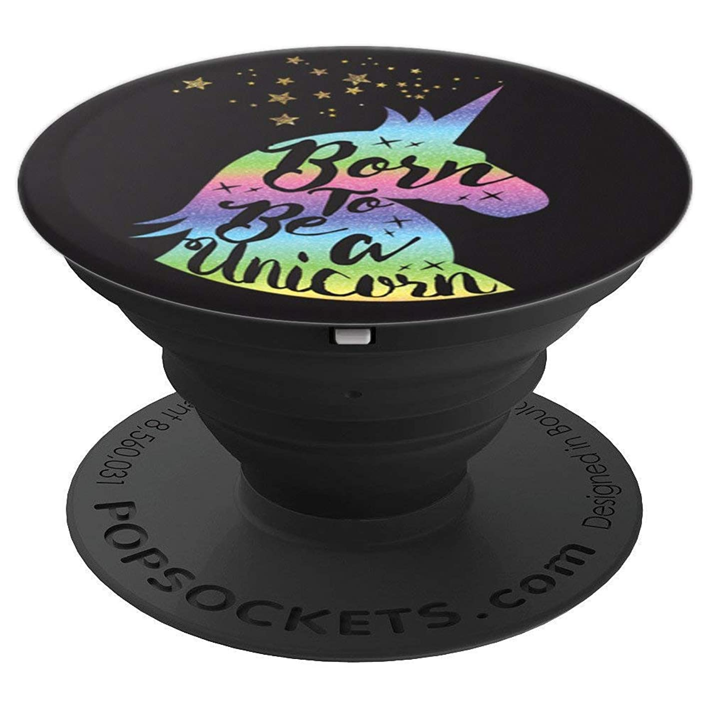 Colorful Unicorn - Cell Phone Mount & Hand Holder Knob 6826 - PopSockets Grip and Stand for Phones and Tablets