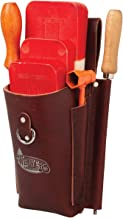 Weaver Arborist Leather Burgundy Felding Wedge Pouch for Tree Cutting (08500-06)