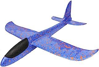 Kinder Flugzeug Spielzeug Outdoor Wurf Segelflugzeug Glider ca.38cm (blauw)