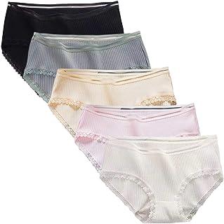 Aculldo ショーツ 女性 下着 パンツ レディース 5枚セット インナー パンツ 女性用 レギュラーショーツ 綿 ショーツ 下着 可愛い レース 柔らかい 通気 快適 ショートパンツ コットン 少女 学生 カラフル パンティ 大きいサイズ