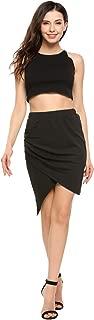 Women's Pencil Skirt Side Button Down Slit Skirt for OL