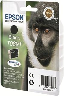 Epson Original T0891 Affe, wisch  und wasserfeste Tinte (Singlepack) schwarz