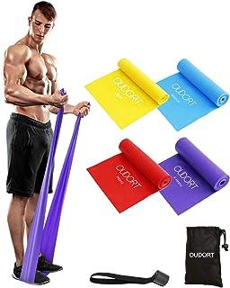 comprar comparacion Oudort Cintas Elásticas Musculación, 4 Gomas Elásticas Fitness sin Látex con Anclaje Puerta para Yoga, Pilates, Estiramien...